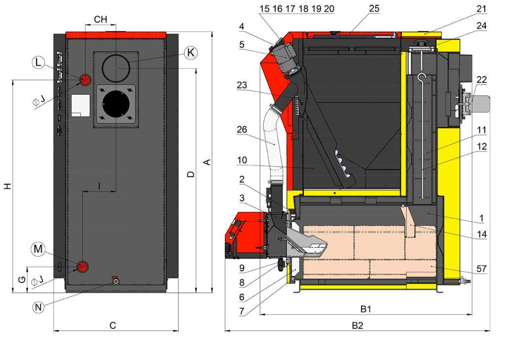Budowa kotła Atmos DxxPX